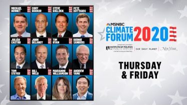 Watch Live: MSNBC's Climate Forum 2020 (DAY 2) | MSNBC 6
