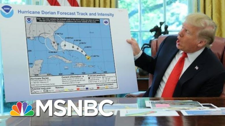 Sharpie-Gate? President Trump's Alternate Hurricane Map  - The Day That Was | MSNBC 1