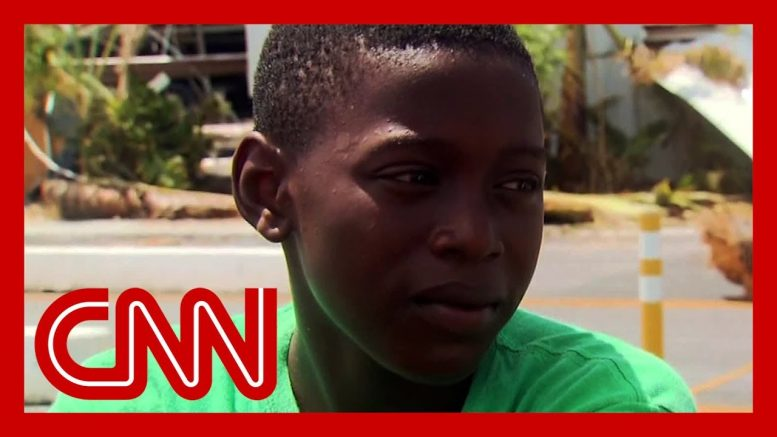 Young Hurricane Dorian survivor saw a woman get swept away with her baby 1