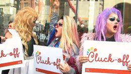 Protesters crash grand opening of Chick-fil-A in Toronto 1