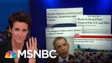 Trump Dismantling US Response To Russian Annexation Of Crimea | Rachel Maddow | MSNBC 10