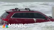 Waves From Hurricane Dorian Toss Around Flooded Jeep On Myrtle Beach | The 11th Hour | MSNBC 5