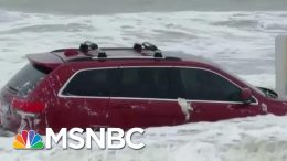Waves From Hurricane Dorian Toss Around Flooded Jeep On Myrtle Beach | The 11th Hour | MSNBC 8