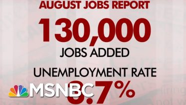 August Jobs Report: 130,000 Jobs Added, Unemployment Stays At 3.7 Percent | Morning Joe | MSNBC 6