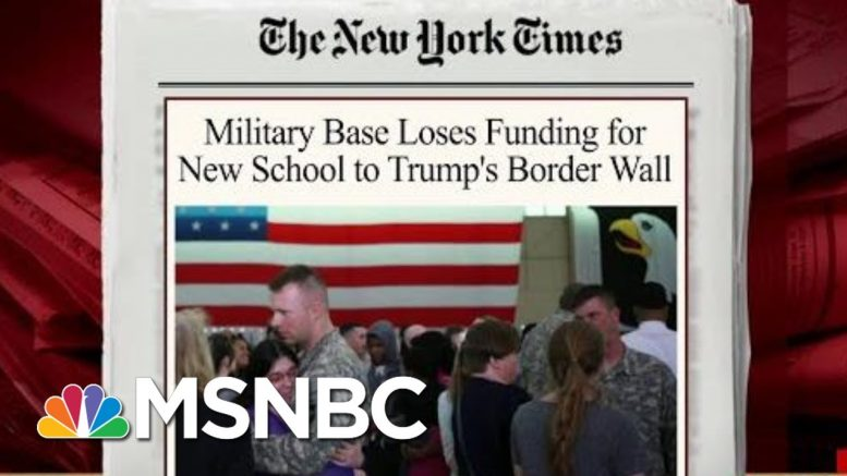 Trump Takes 'Real Money Away' From Military Construction Issues | Morning Joe | MSNBC 1