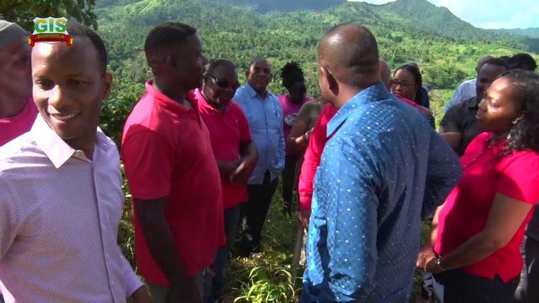 PRIME MINISTER HON ROOSEVELT SKERRIT VISITS CARHOLM FARM ROADS 1