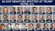 Republicans Didn't Go To Trump Hotels Until He Became POTUS | The Beat With Ari Melber | MSNBC 5