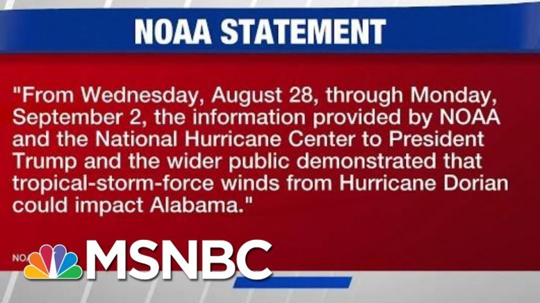 NOAA Feuds With National Weather Center Over Dorian Projections | Hardball | MSNBC 1