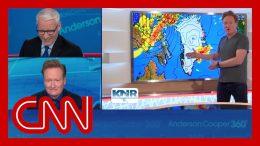 Conan's Greenland weather report cracks up Anderson Cooper 4