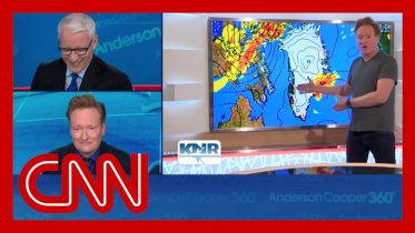 Conan's Greenland weather report cracks up Anderson Cooper 6