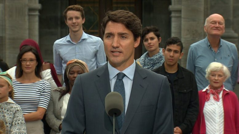 Justin Trudeau's full remarks on election call 1