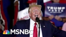 President Donald Trump Rallies For GOP Candidate In Crucial NC House Race | Velshi & Ruhle | MSNBC 1
