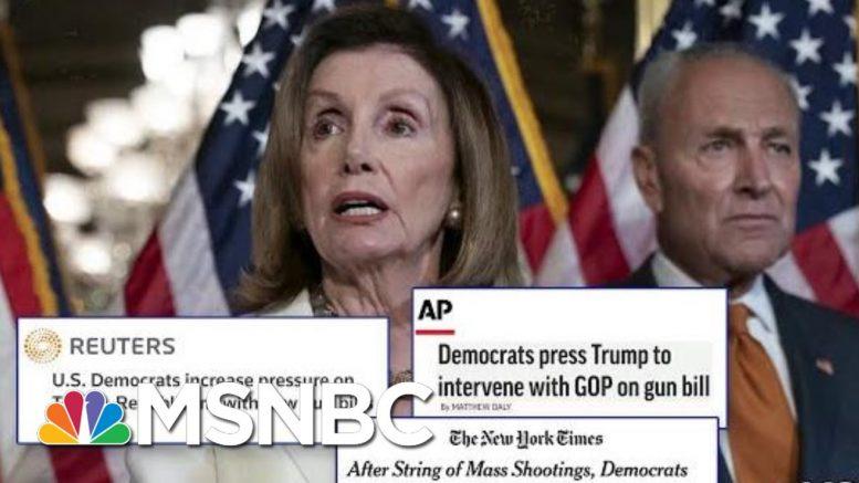 Returning From Recess, Dems Press Trump For Action On Gun Control | Hardball | MSNBC 1