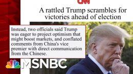 Trump Doubles Down On Wrong Dorian Information   Morning Joe   MSNBC 1