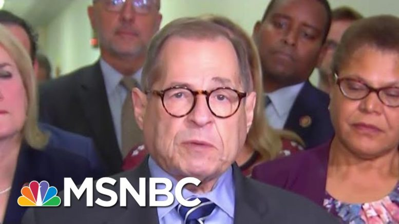 Nadler On Impeachment Resolution: 'Investigation Will Go Well Beyond' Mueller Report | MSNBC 1