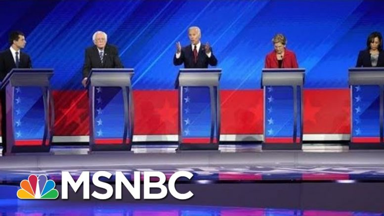 Democratic Candidates Focus Attacks On President Trump - The Day That Was | MSNBC 1