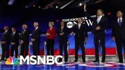 10 Top Democrats Participate In Heated Third Debate | Velshi & Ruhle | MSNBC 4