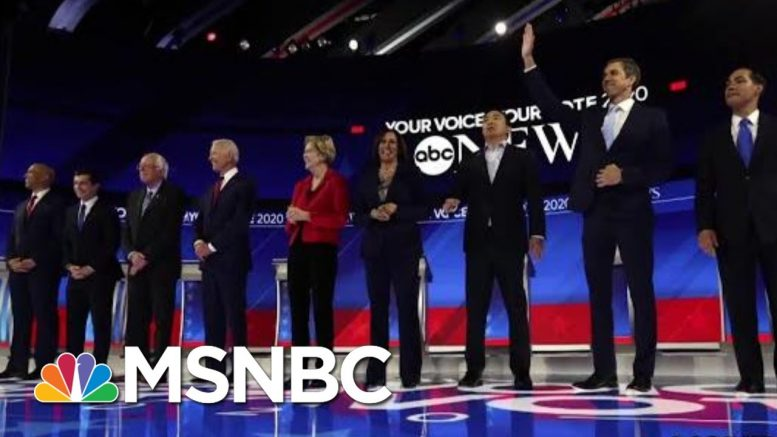 10 Top Democrats Participate In Heated Third Debate | Velshi & Ruhle | MSNBC 1