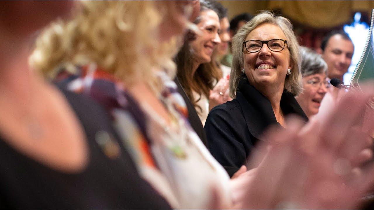 Elizabeth May unveils Green Party platform in Toronto 2
