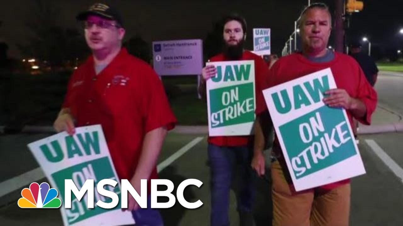 UAW Local 22 President On General Motors Strike: 'We Need Job Security' | Velshi & Ruhle | MSNBC 1