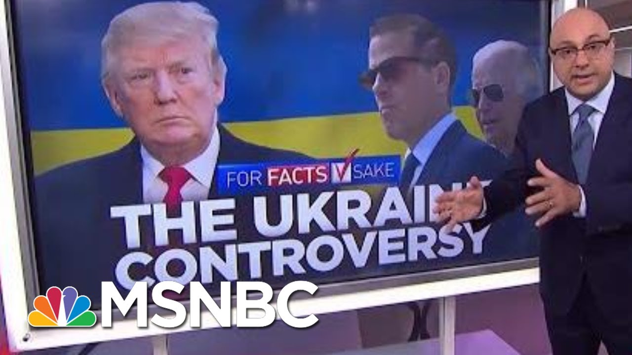 #ForFactsSake: There's No Evidence Of Wrongdoing Tied To Joe Biden's Son   Velshi & Ruhle   MSNBC 1