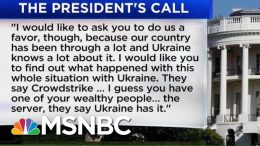 White House Release Shows Trump Asked Ukraine To 'Look Into' Investigation Of Biden's Son | MSNBC 8