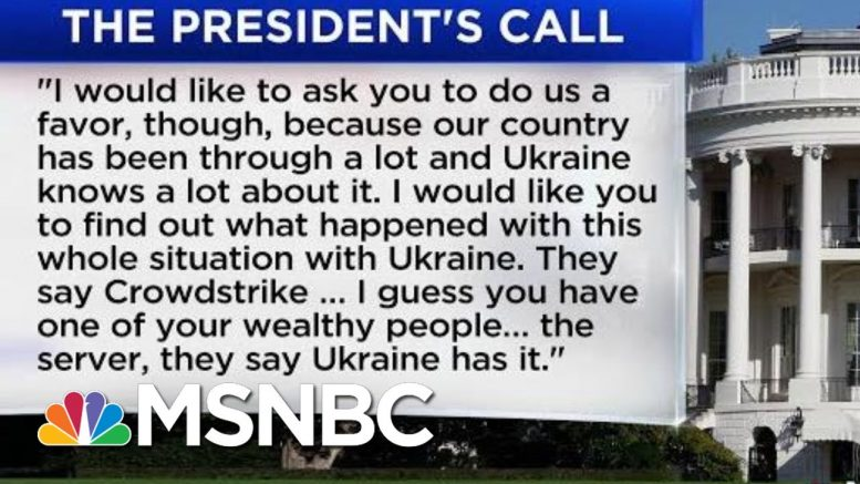 White House Release Shows Trump Asked Ukraine To 'Look Into' Investigation Of Biden's Son | MSNBC 1
