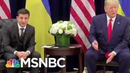 Ukraine President On President Donald Trump Phone Call: 'Nobody Pushed Me' | Katy Tur | MSNBC 9