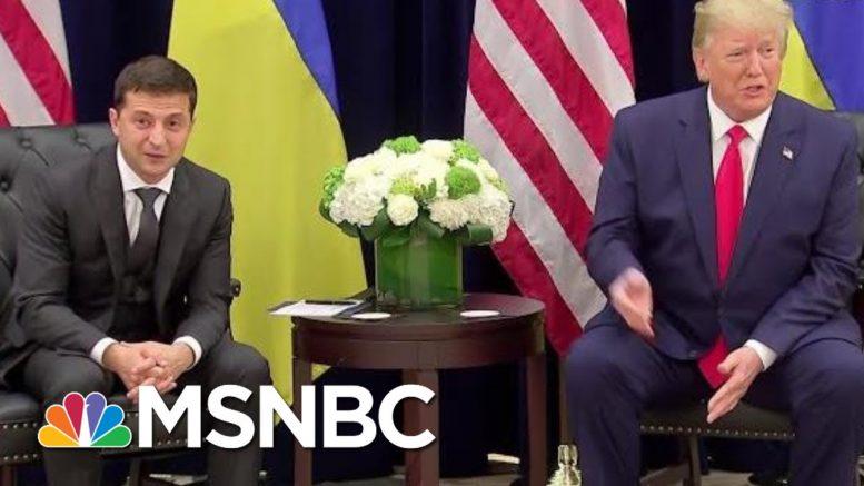 Ukraine President On President Donald Trump Phone Call: 'Nobody Pushed Me' | Katy Tur | MSNBC 1