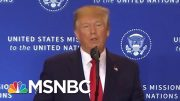 'I Didn't Threaten Anybody': President Donald Trump On Call With Ukrainian President | MSNBC 2