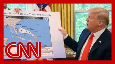 Trump appears to show altered Hurricane Dorian map 6