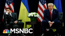 Trump Attacks Obama, Biden, Clinton, During UN Meeting With Ukraine Pres. | The 11th Hour | MSNBC 7