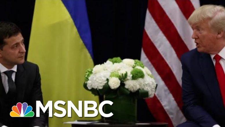Trump Asks Ukraine President To 'Do Us A Favor' | Morning Joe | MSNBC 1
