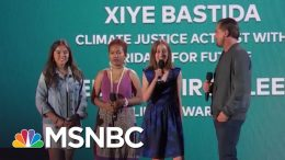 Leonardo DiCaprio Introduces Three Young Climate Activists | NBC News 3