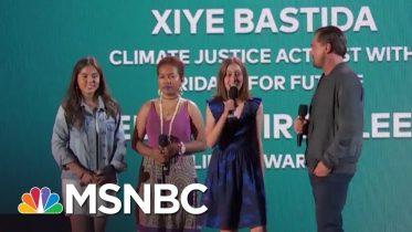 Leonardo DiCaprio Introduces Three Young Climate Activists   NBC News 4
