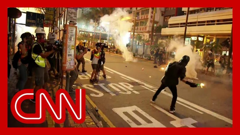 Hong Kong protesters clash with police for the 17th straight week 1