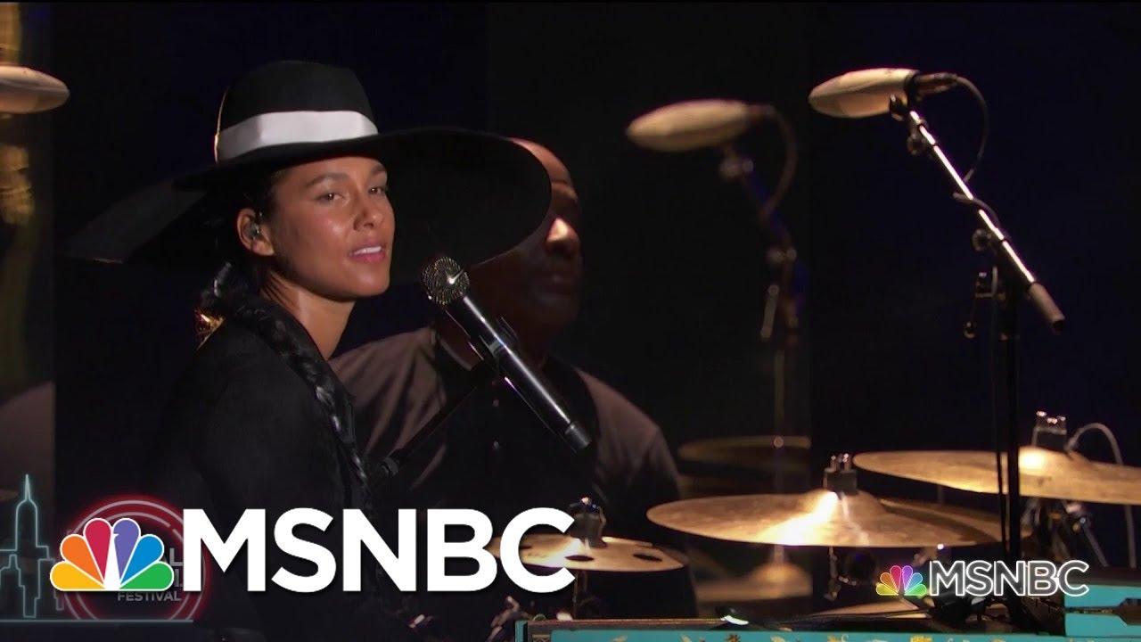 Alicia Keys Performs 'Show Me Love' | MSNBC 3