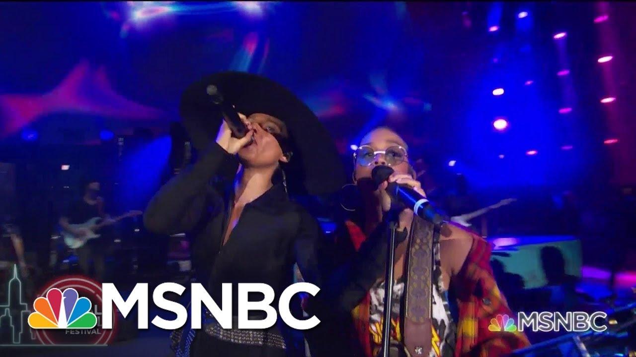 Alicia Keys And H.E.R. Perform Aerosmith's 'Dream On' | MSNBC 1