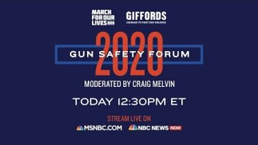 Watch Live: Gun Safety Forum 2020 In Las Vegas | MSNBC 6