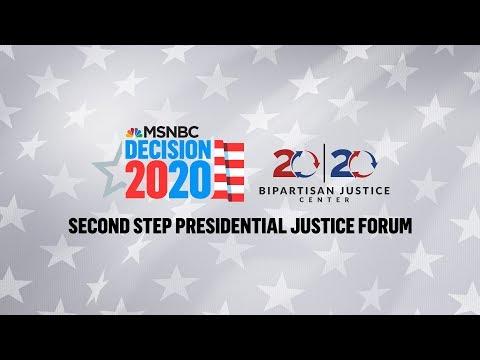 Watch Live: 2020 Democrats Speak At Justice Forum (Day 1) | MSNBC 1