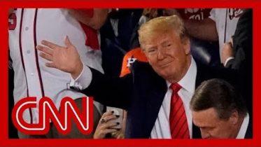 Washington crowd boos President Trump at World Series 9