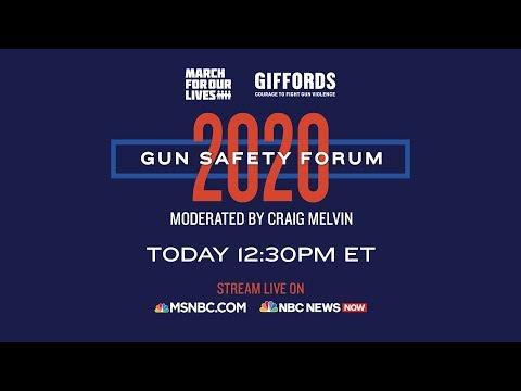Watch Live: Gun Safety Forum 2020 In Las Vegas   MSNBC 7