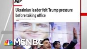 AP: Ukrainian Leader Felt President Donald Trump Pressure Before Taking Office | Hardball | MSNBC 3