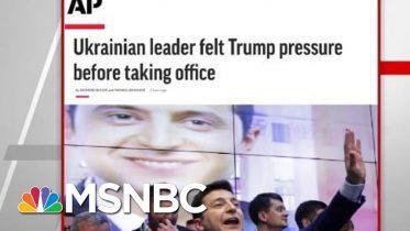 AP: Ukrainian Leader Felt President Donald Trump Pressure Before Taking Office   Hardball   MSNBC 4