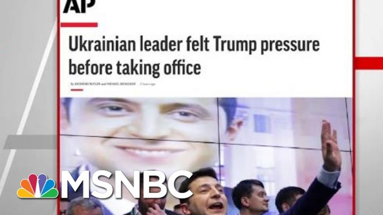 AP: Ukrainian Leader Felt President Donald Trump Pressure Before Taking Office | Hardball | MSNBC 1
