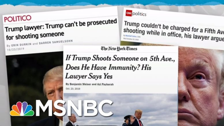 Trump Lawyers Argue His Crimes Can't Be Investigated, Prosecuted | Rachel Maddow | MSNBC 1