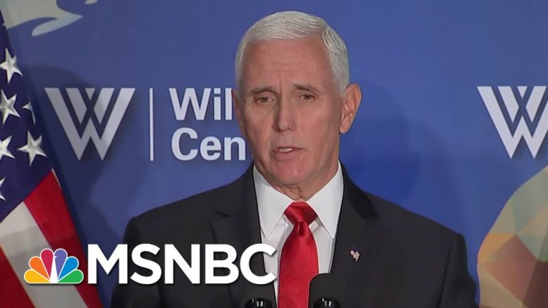 Fact-Checking Vice President Mike Pence On The NBA, China, And Foxconn | Velshi & Ruhle | MSNBC 1