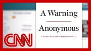 What will 'Anonymous' author reveal in book 'A Warning'? 5
