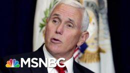 Mike Pence Navigates 'Careful Balance' | Morning Joe | MSNBC 2