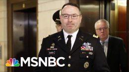'This Guy's A Hero': Biden Praises Alexander Vindman For Testifying | Andrea Mitchell | MSNBC 2